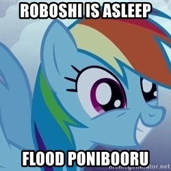 rainbow dash excited - Roboshi is asleep flood ponibooru