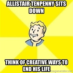 Fallout 3 - allistair tenpenny sits down think of creative ways to end his life