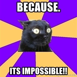 Anxiety Cat - because. its impossible!!