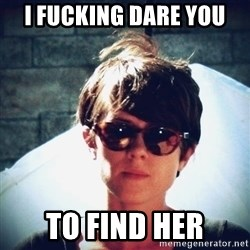 Sara Quin is not amused - i fucking dare you to find her