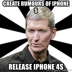 Tim Cook Time - create rumours of iphone 5 release iphone 4s