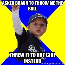 Brewers Kid - ASKED BRAUN TO THROW ME THE BALL THREW IT TO HOT GIRL INSTEAD