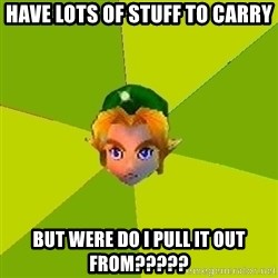 Quest Advice Link - have lots of stuff to carry but were do i pull it out from?????