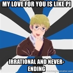 Pervy Estonia - My love for you is like Pi irrational and never-ending