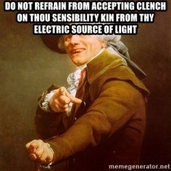 Joseph Ducreux - Do not refrain from accepting clench on thou sensibility kin from thy electric source of light