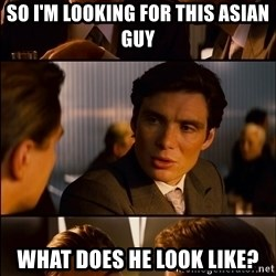 Inception Hd Test - so i'm looking for this asian guy what does he look like?