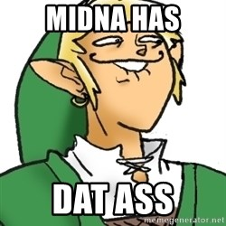 Perverted Link - midna has Dat ass