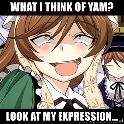 Desu Desu - what i think of yam? look at my expression...