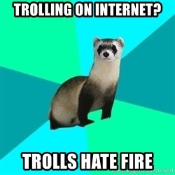 Obvious Question Ferret - trolling on internet? trolls hate fire