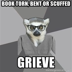 Lit Major Lemur - Book Torn, bent or scuffed grieve