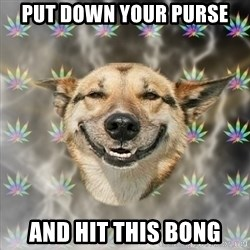 Stoner Dog - Put down your purse and hit this bong