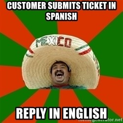 Successful Mexican - Customer submits ticket in spanish reply in english