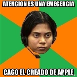 Stereotypical Indian Telemarketer - atencion es una emegercia cago el creado de apple