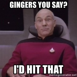 horny captain picard - GinGers you say? I'd HIT THAT