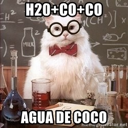 Science Cat - h20+co+co agua de coco