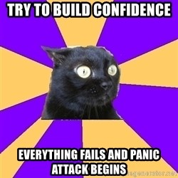 Anxiety - try to build confidence everything fails and panic attack begins