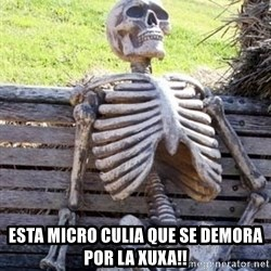 Waiting For Op -  esta micro culia que se demora por la xuxa!!