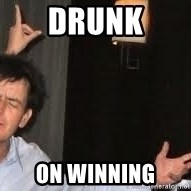 Drunk Charlie Sheen - Drunk on winning