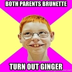 shabbywag - Both parents brunette turn out ginger