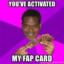 Cunning Black Strategist - You've activated my fap card
