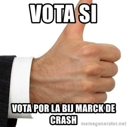 Thumbs Up Smutty Fanfiction - VOTA SI VOTA POR LA BIJ MARCK DE CRASH