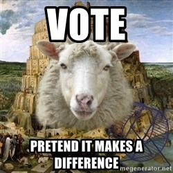 Babylonin lammas - vote pretend it makes a difference