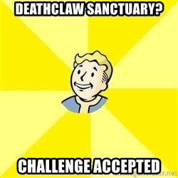 Fallout 3 - deathclaw sanctuary? challenge Accepted