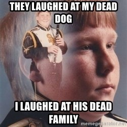 PTSD Clarinet Boy - They laughed at my dead dog I laughed at his dead family
