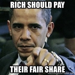 Pissed off Obama - RICH SHOULD PAY THEIR FAIR SHARE