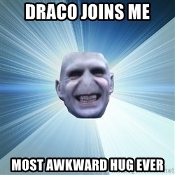 Awkward Wizard - draco joins me most awkward hug ever