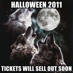 Lone Wolf Pack - Halloween 2011 tickets will sell out soon
