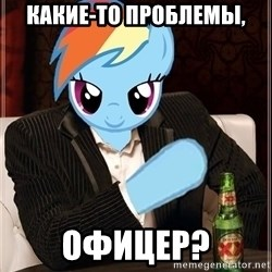 The Most Interesting Pony in the World - Какие-то проблемы, Офицер?