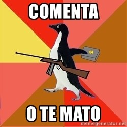Socially Fed Up Penguin - COMENTA O TE MATO