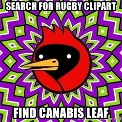 Omsk Crow - search for rugby clipart find canabis leaf