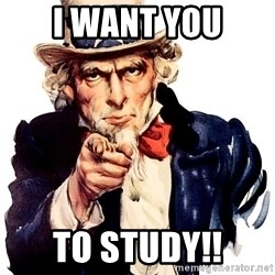 Uncle Sam Point - I WANT YOU TO STUDY!!