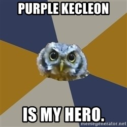 Art Newbie Owl - Purple Kecleon is my hero.