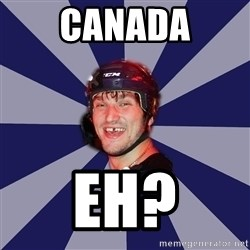 hockey player - canada eh?
