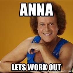Gay Richard Simmons - Anna LEts work out