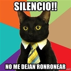 Business Cat - silencio!! no me dejan ronronear