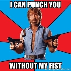Chuck Norris  - I can punch you without my fist