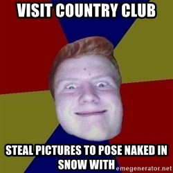 Chrisginger - visit country club steal pictures to pose naked in snow with