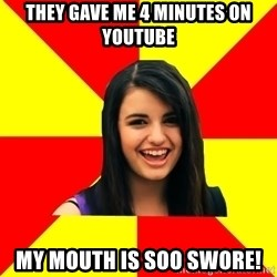 Rebecca Black - They gave me 4 minutes on youtube My mouth is SOo swore!