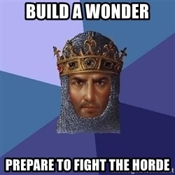 Age Of Empires - build a wonder prepare to fight the horde