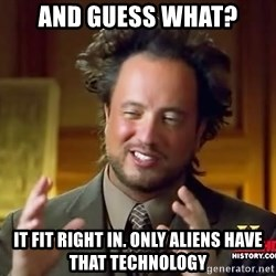 Giorgio A Tsoukalos Hair - AND GUESS WHAT? IT FIT RIGHT IN. ONLY ALIENS HAVE THAT TECHNOLOGY