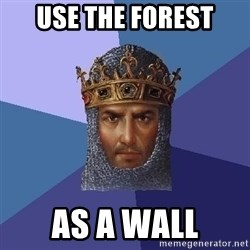 Age Of Empires - use the forest as a wall