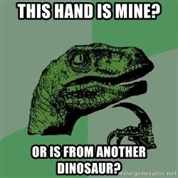 Philosoraptor - this hand is mine? or is from another dinosaur?