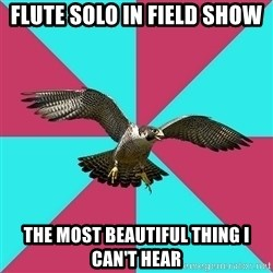 Flute falcon - flute solo in field show the most beautiful thing i can't hear