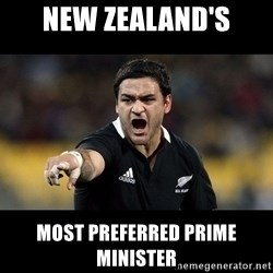 Intense Piri Weepu - NEW ZEALAND's MOST PREFERRED PRIME MINISTER