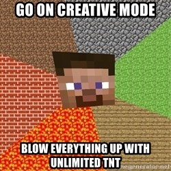 Minecraft Guy - go on creative mode blow everything up with unlimited tnt