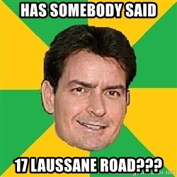 Courage Sheen - Has somebody said 17 laussane road???
